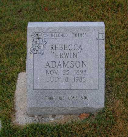 ADAMSON, REBECCA A. ERWIN MILGRIM - Lawrence County, Arkansas | REBECCA A. ERWIN MILGRIM ADAMSON - Arkansas Gravestone Photos