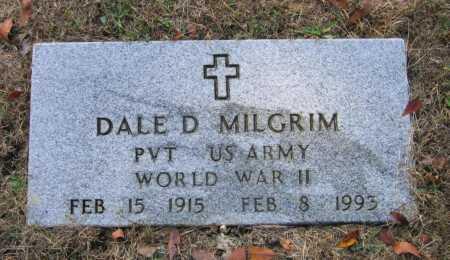MILGRIM (VETERAN WWII), DALE D - Lawrence County, Arkansas | DALE D MILGRIM (VETERAN WWII) - Arkansas Gravestone Photos