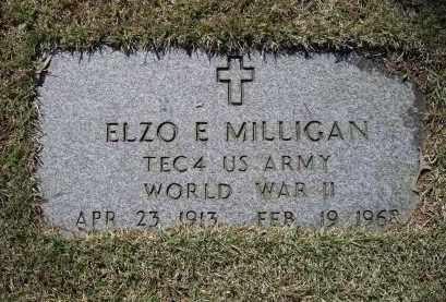 MILLIGAN (VETERAN WWII), ELZO EVERETT - Lawrence County, Arkansas | ELZO EVERETT MILLIGAN (VETERAN WWII) - Arkansas Gravestone Photos
