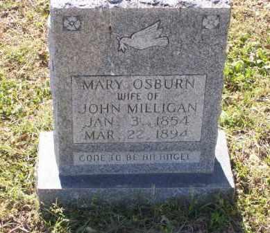 OSBURN MILLIGAN, MARY J. - Lawrence County, Arkansas | MARY J. OSBURN MILLIGAN - Arkansas Gravestone Photos