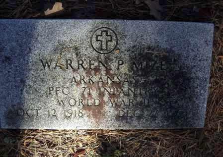 MIZE (VETERAN WWII), WARREN P. - Lawrence County, Arkansas   WARREN P. MIZE (VETERAN WWII) - Arkansas Gravestone Photos