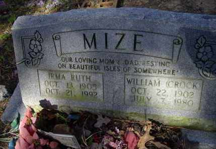 MITCHELL MIZE, IRMA RUTH - Lawrence County, Arkansas | IRMA RUTH MITCHELL MIZE - Arkansas Gravestone Photos