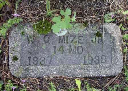 MIZE, JR., WILLIAM CROCKETT - Lawrence County, Arkansas | WILLIAM CROCKETT MIZE, JR. - Arkansas Gravestone Photos