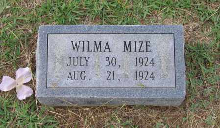 MIZE, WILMA - Lawrence County, Arkansas | WILMA MIZE - Arkansas Gravestone Photos