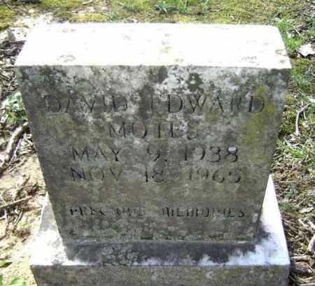 MOTES, DAVID EDWARD - Lawrence County, Arkansas | DAVID EDWARD MOTES - Arkansas Gravestone Photos