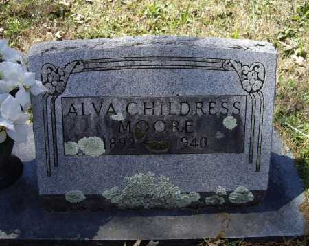 MOORE, ALVA CHILDRESS - Lawrence County, Arkansas | ALVA CHILDRESS MOORE - Arkansas Gravestone Photos