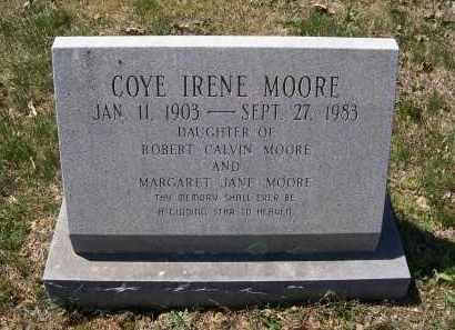 MOORE, COYE IRENE - Lawrence County, Arkansas   COYE IRENE MOORE - Arkansas Gravestone Photos
