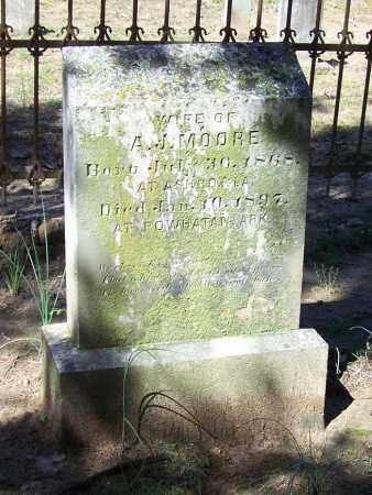 MOORE, SARAH REDDICK - Lawrence County, Arkansas | SARAH REDDICK MOORE - Arkansas Gravestone Photos