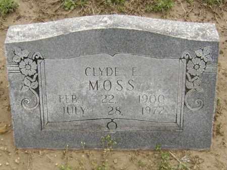 MOSS, CLYDE E. - Lawrence County, Arkansas   CLYDE E. MOSS - Arkansas Gravestone Photos