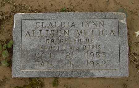 ALLISON MULICA, CLAUDIA LYNN - Lawrence County, Arkansas | CLAUDIA LYNN ALLISON MULICA - Arkansas Gravestone Photos