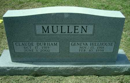 HILLHOUSE MULLEN, GENEVA - Lawrence County, Arkansas | GENEVA HILLHOUSE MULLEN - Arkansas Gravestone Photos