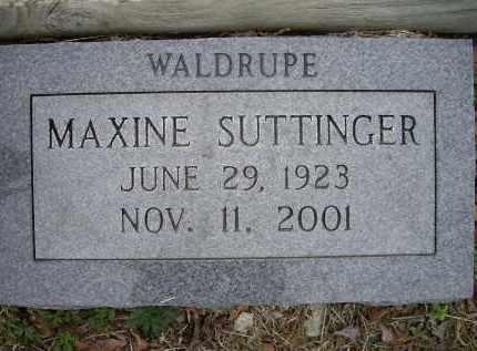 SUTTINGER, MAXINE MURPHY WALDRUPE - Lawrence County, Arkansas | MAXINE MURPHY WALDRUPE SUTTINGER - Arkansas Gravestone Photos