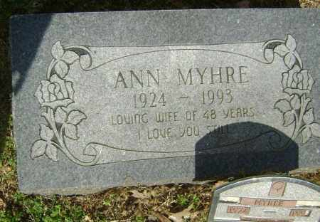 MYHRE, ANNABEL - Lawrence County, Arkansas | ANNABEL MYHRE - Arkansas Gravestone Photos