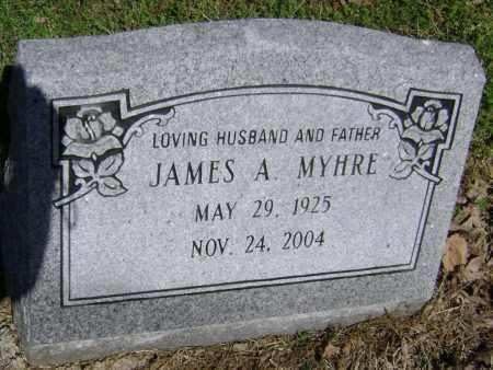 MYHRE, JAMES A. - Lawrence County, Arkansas | JAMES A. MYHRE - Arkansas Gravestone Photos
