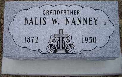 NANNEY, BALIS W. - Lawrence County, Arkansas | BALIS W. NANNEY - Arkansas Gravestone Photos