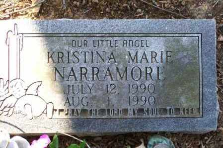 NARRAMORE, KRISTINA MARIE - Lawrence County, Arkansas | KRISTINA MARIE NARRAMORE - Arkansas Gravestone Photos