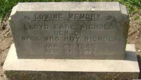 NICHOLS, LLOYD EARL - Lawrence County, Arkansas   LLOYD EARL NICHOLS - Arkansas Gravestone Photos