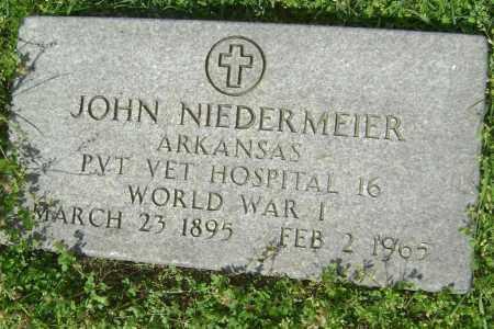 NIEDERMEIER (VETERAN WWI), JOHN - Lawrence County, Arkansas | JOHN NIEDERMEIER (VETERAN WWI) - Arkansas Gravestone Photos