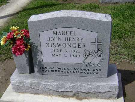 NISWONGER, MANUEL JOHN HENRY - Lawrence County, Arkansas | MANUEL JOHN HENRY NISWONGER - Arkansas Gravestone Photos