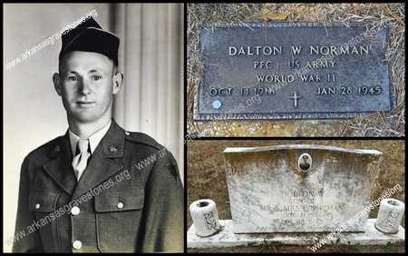 "NORMAN (VETERAN WWII, KIA), DALTON WILLIAM ""BILLIE"" - Lawrence County, Arkansas | DALTON WILLIAM ""BILLIE"" NORMAN (VETERAN WWII, KIA) - Arkansas Gravestone Photos"