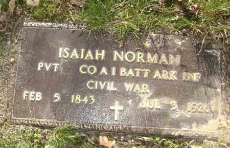 NORMAN (VETERAN UNION), ISAIAH - Lawrence County, Arkansas | ISAIAH NORMAN (VETERAN UNION) - Arkansas Gravestone Photos