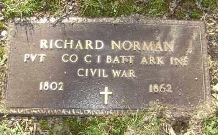 NORMAN (VETERAN UNION), RICHARD - Lawrence County, Arkansas | RICHARD NORMAN (VETERAN UNION) - Arkansas Gravestone Photos