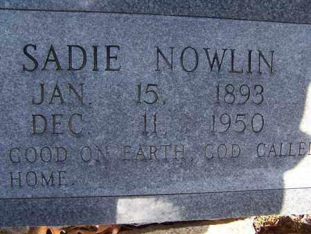 "NOWLIN, SARAH ""SADIE"" - Lawrence County, Arkansas   SARAH ""SADIE"" NOWLIN - Arkansas Gravestone Photos"