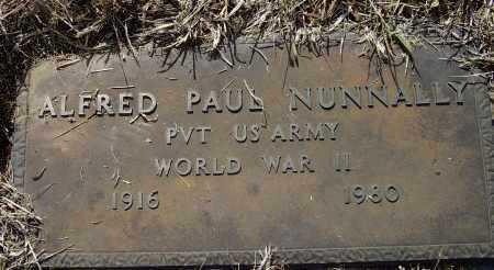 NUNNALLY (VETERAN WWII), ALFRED PAUL - Lawrence County, Arkansas | ALFRED PAUL NUNNALLY (VETERAN WWII) - Arkansas Gravestone Photos
