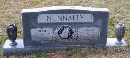 NUNNALLY (VETERAN WWII), HOMER MORRIS - Lawrence County, Arkansas | HOMER MORRIS NUNNALLY (VETERAN WWII) - Arkansas Gravestone Photos