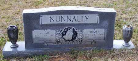 NUNNALLY (VETERAN WWII), HOMER MORRIS - Lawrence County, Arkansas   HOMER MORRIS NUNNALLY (VETERAN WWII) - Arkansas Gravestone Photos
