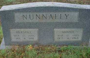 NUNNALLY, HERSHEL VERNON - Lawrence County, Arkansas   HERSHEL VERNON NUNNALLY - Arkansas Gravestone Photos