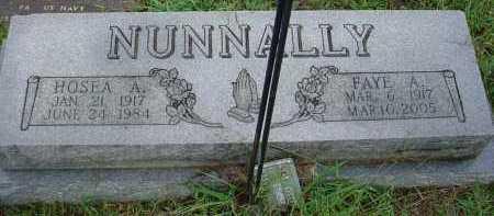 NUNNALLY, HOSEA ARTHUR - Lawrence County, Arkansas | HOSEA ARTHUR NUNNALLY - Arkansas Gravestone Photos