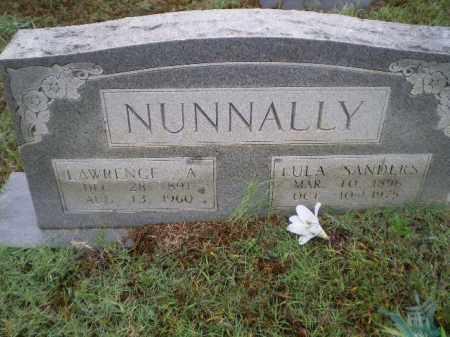 NUNNALLY, LAWRENCE ASTON - Lawrence County, Arkansas   LAWRENCE ASTON NUNNALLY - Arkansas Gravestone Photos