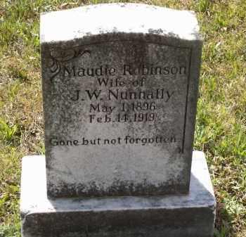 ROBINSON NUNNALLY, MAUDIE - Lawrence County, Arkansas | MAUDIE ROBINSON NUNNALLY - Arkansas Gravestone Photos