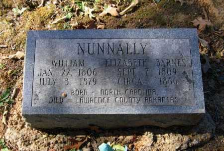 BARNES NUNNALLY, ELIZABETH - Lawrence County, Arkansas | ELIZABETH BARNES NUNNALLY - Arkansas Gravestone Photos