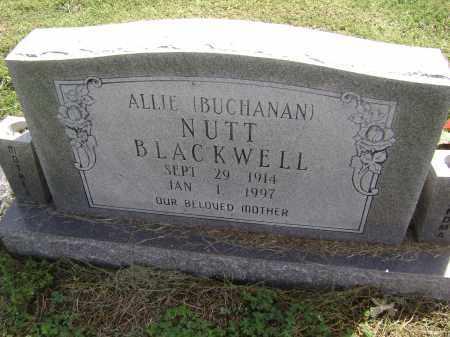 BLACKWELL, ALLIE BUCHANAN NUTT - Lawrence County, Arkansas | ALLIE BUCHANAN NUTT BLACKWELL - Arkansas Gravestone Photos