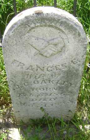 OAKLEY, FRANCES E. - Lawrence County, Arkansas | FRANCES E. OAKLEY - Arkansas Gravestone Photos