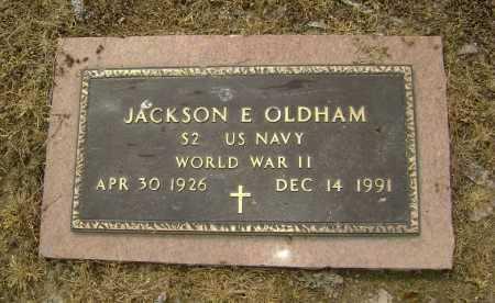 OLDHAM  (VETERAN WWII), JACKSON EVERETTE - Lawrence County, Arkansas   JACKSON EVERETTE OLDHAM  (VETERAN WWII) - Arkansas Gravestone Photos