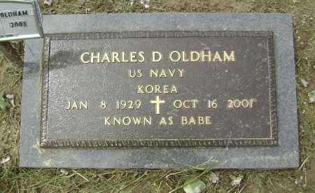 "OLDHAM (VETERAN KOR), CHARLES D. ""BABE"" - Lawrence County, Arkansas   CHARLES D. ""BABE"" OLDHAM (VETERAN KOR) - Arkansas Gravestone Photos"