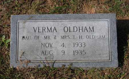 OLDHAM, VERMA - Lawrence County, Arkansas   VERMA OLDHAM - Arkansas Gravestone Photos
