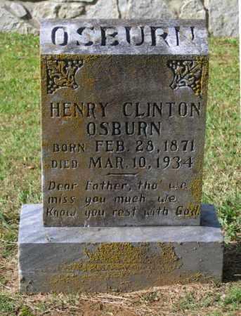 OSBURN, HENRY CLINTON - Lawrence County, Arkansas   HENRY CLINTON OSBURN - Arkansas Gravestone Photos