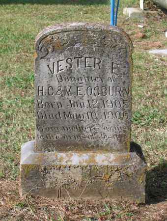 OSBURN, VESTER E. - Lawrence County, Arkansas | VESTER E. OSBURN - Arkansas Gravestone Photos