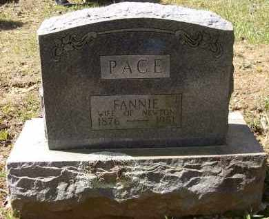 """PACE, FRANCES FLORENCE """"FANNIE"""" - Lawrence County, Arkansas 