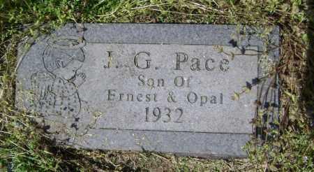 PACE, J. G. - Lawrence County, Arkansas   J. G. PACE - Arkansas Gravestone Photos