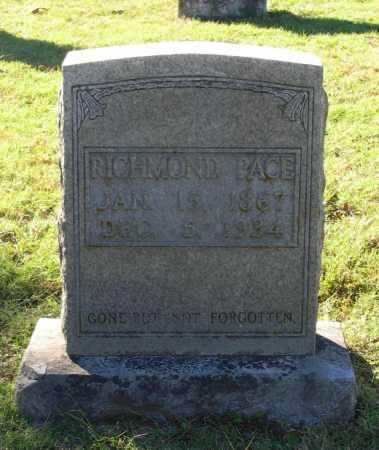 PACE, RICHMOND - Lawrence County, Arkansas   RICHMOND PACE - Arkansas Gravestone Photos