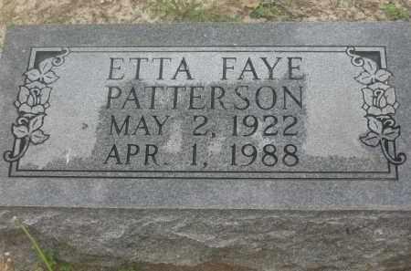 PATTERSON, ETTA FAYE - Lawrence County, Arkansas | ETTA FAYE PATTERSON - Arkansas Gravestone Photos