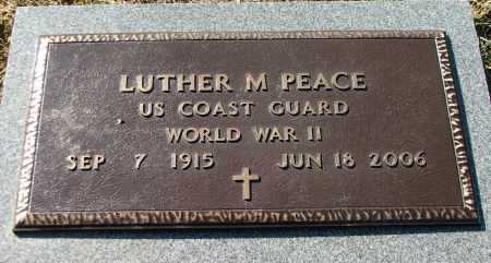 PEACE (VETERAN WWII), LUTHER MARION - Lawrence County, Arkansas | LUTHER MARION PEACE (VETERAN WWII) - Arkansas Gravestone Photos