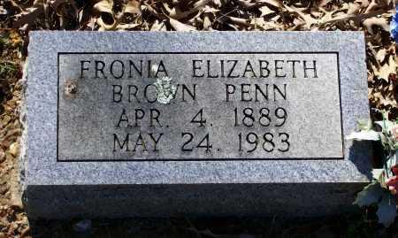 "BROWN PENN, SOPHRONIA ELIZABETH ""FRONIA"" - Lawrence County, Arkansas | SOPHRONIA ELIZABETH ""FRONIA"" BROWN PENN - Arkansas Gravestone Photos"