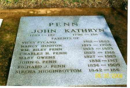 PENN, JOHN RICHARD - Lawrence County, Arkansas   JOHN RICHARD PENN - Arkansas Gravestone Photos