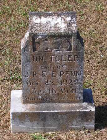 PENN, LON TOLER - Lawrence County, Arkansas | LON TOLER PENN - Arkansas Gravestone Photos